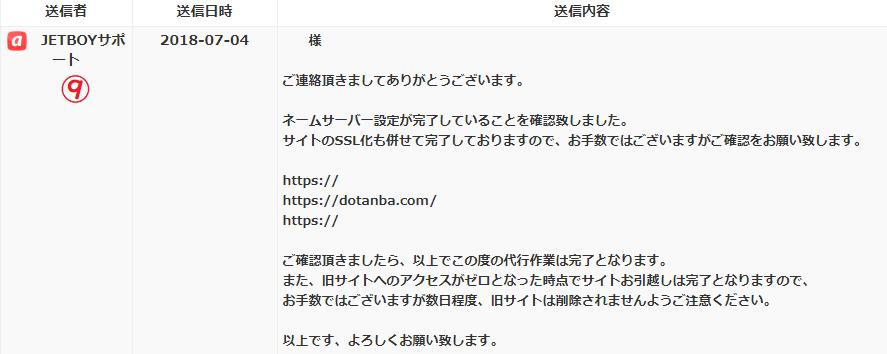 【JETBOY】サイトの引越し設定代行が無料だったのでやってみた