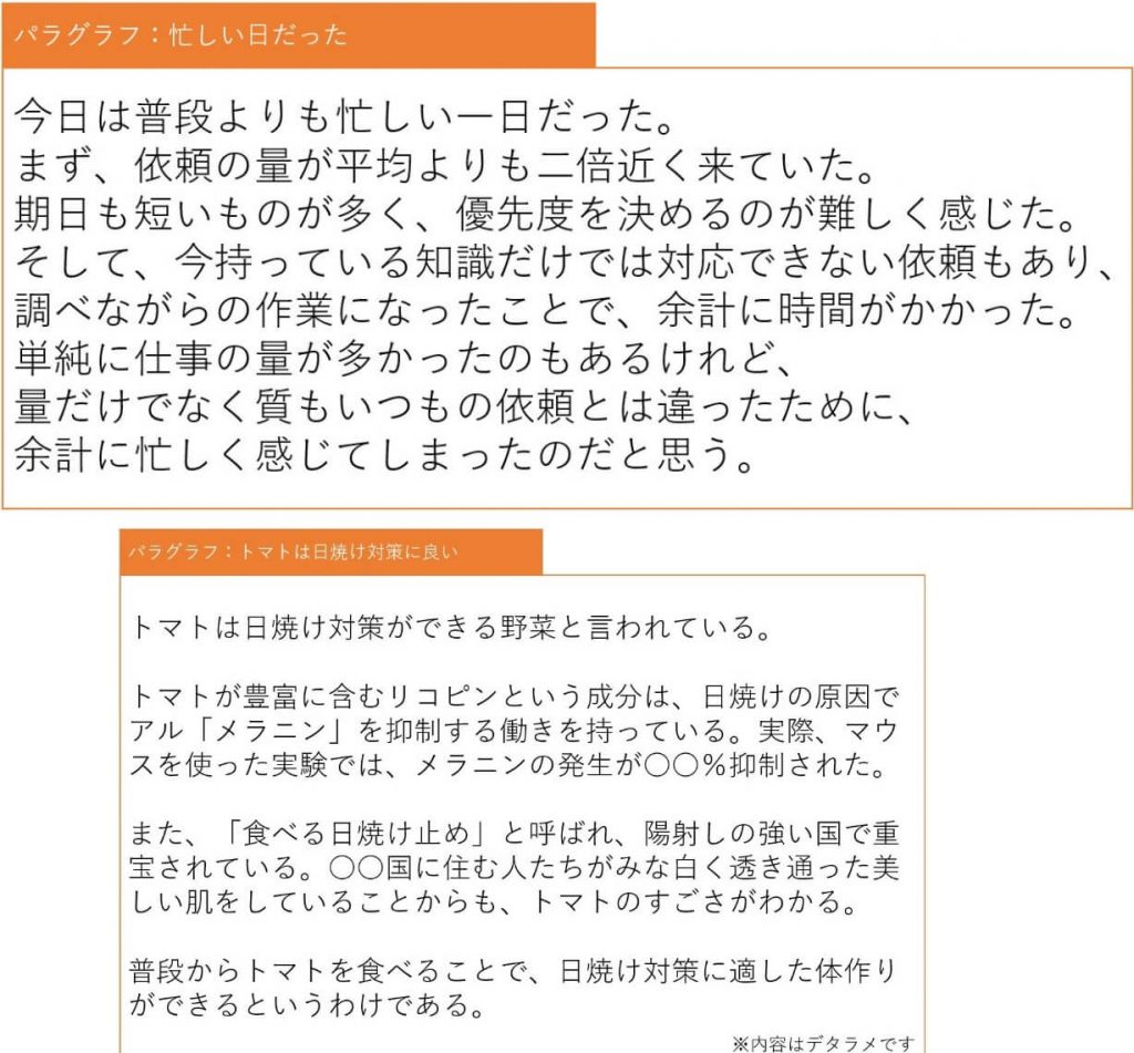 【afbライターのコンテンツ作成講座③】パングラフとセンテンスの解説①